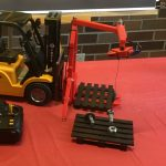Small toy version of the helping hand forklift