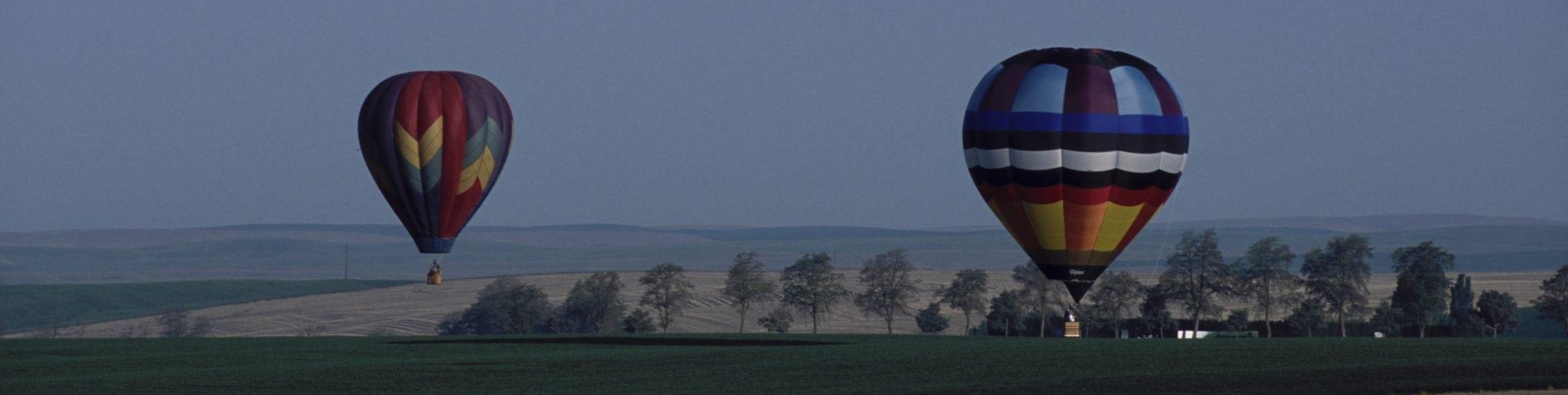 Hot air balloons over Walla Walla