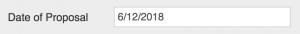 Date of proposal field