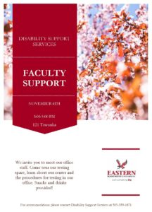 flyer for Disability Services