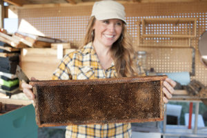 Research Conservationist and founder of the Bee Girl Organization, Sarah Red-Laird.