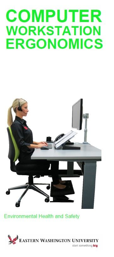 Cover image for Computer Workstation Ergonomics brochure