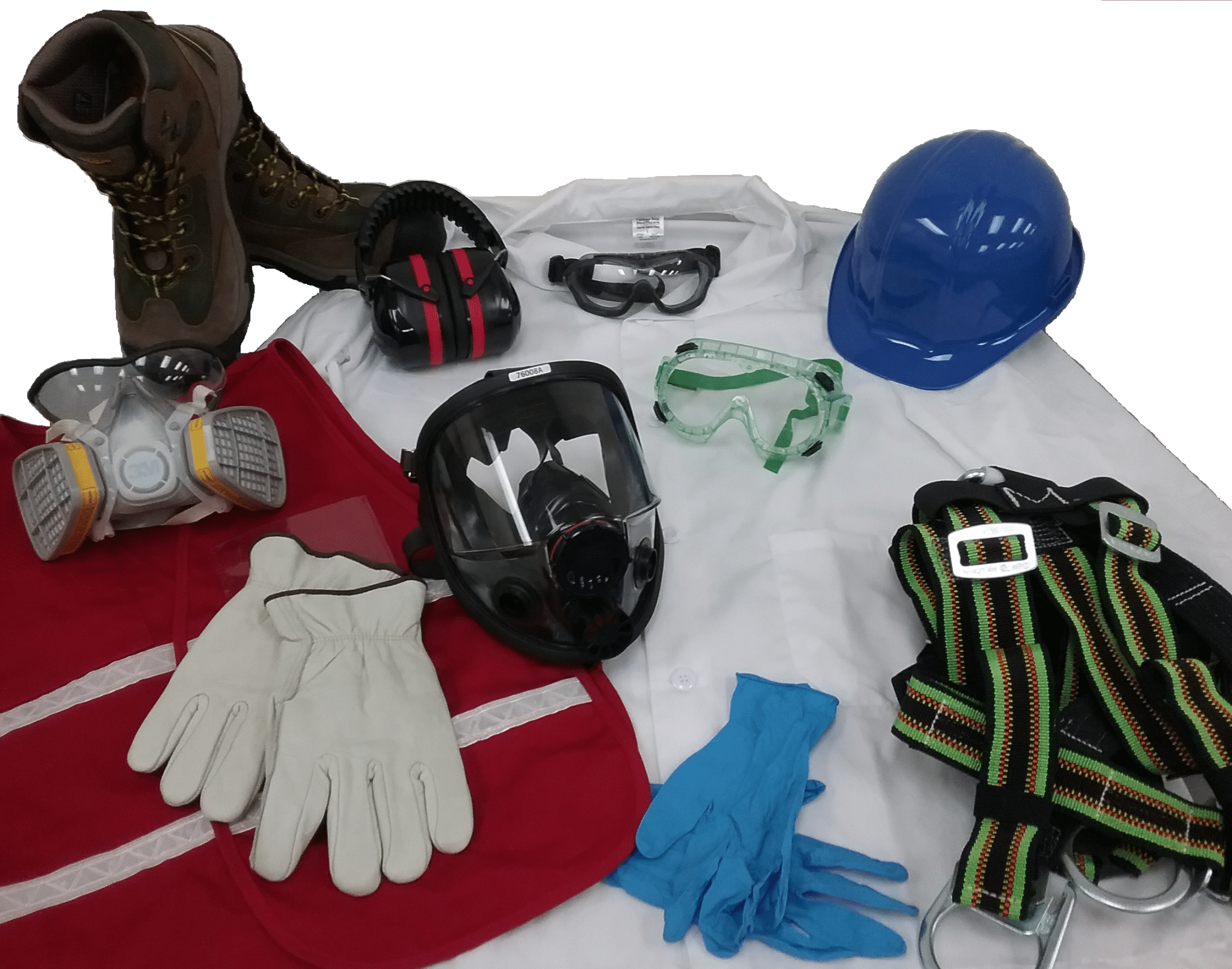 image with multiple different pieces of personal protective equipment