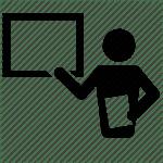 cartoon image of an instructor