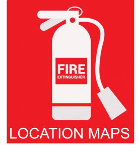 Fire extinguisher location maps image
