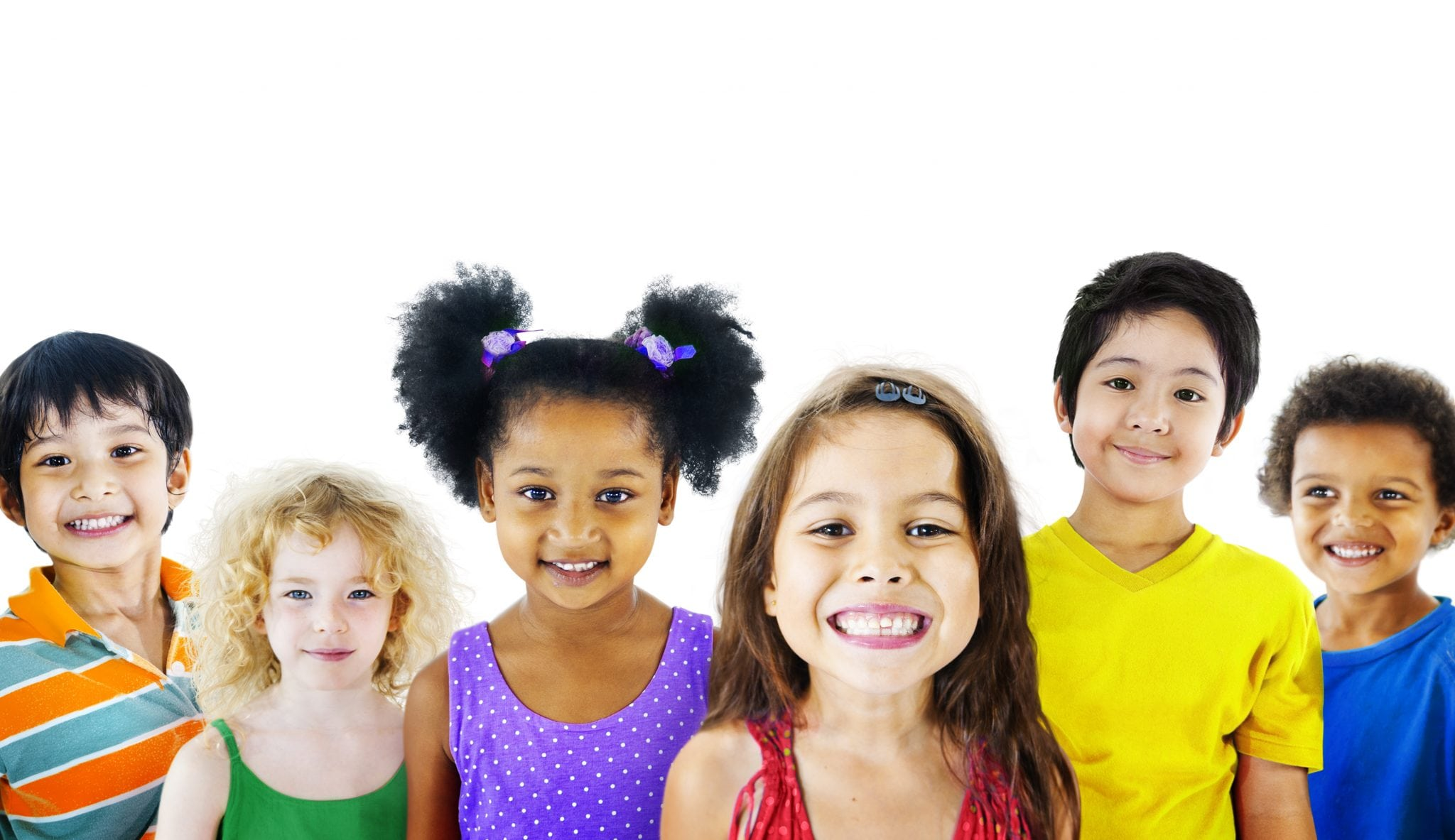 Group of diverse children smiling