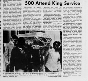 MLK Service Article in the Easterner