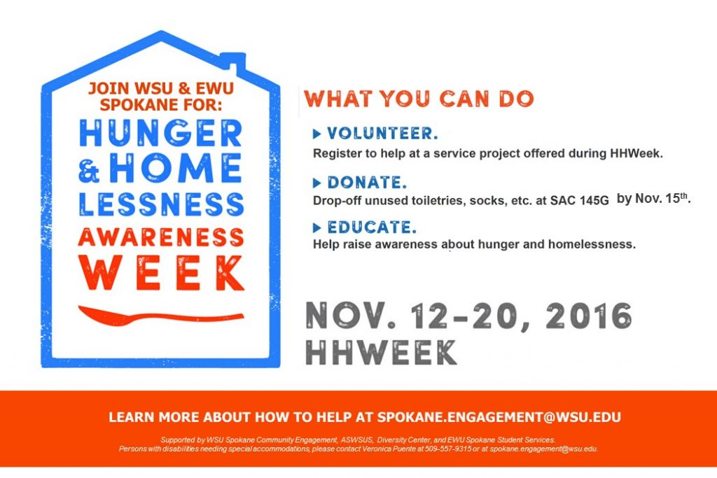 Hunger and Homessless Awareness Week Flyer