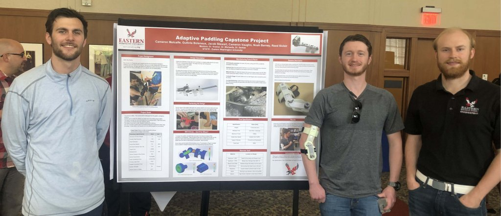 Mechanical engineering students at 2019 Research Symposium.